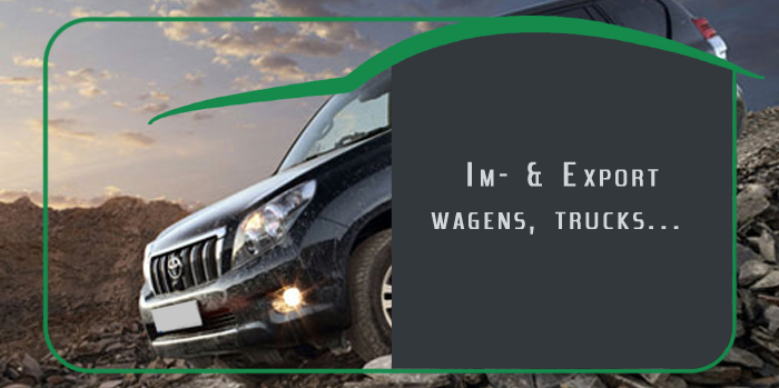 Import & export wagens, trucks